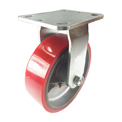 6 X 2 Polyurethane On Cast Iron Red - Rigid