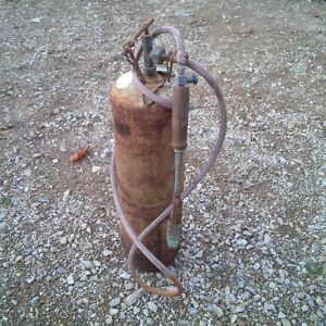 Propane Tank with Soldering Iron