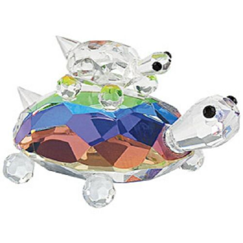 "NEW CRYSTAL TURTLES MAMA & BABY FIGURINE NEW IN BOX 3"" W x 2"" H"