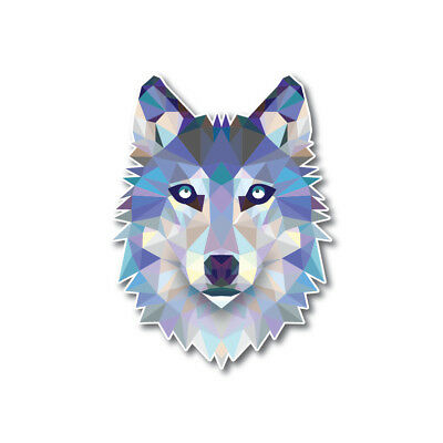Geometric Wolf Low Poly Dog Decal Sticker Reflective Car Truck Window Laptop
