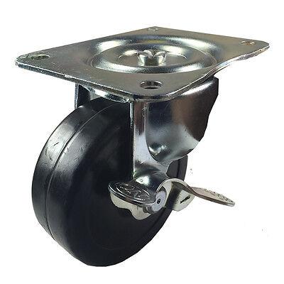 4 X 1-516 Hard Rubber Wheel Caster - Swivel