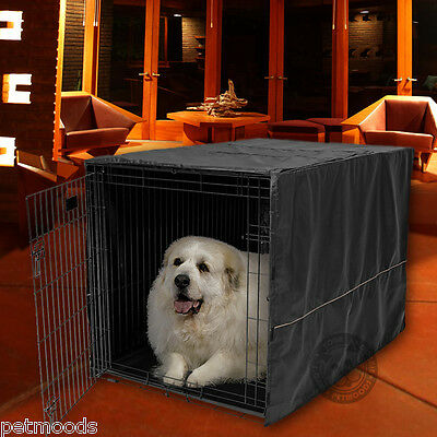 Large Midwest Life Stages - Dog Crate Pet Cage Kennel COVER ONLY Black MidWest Quiet Time Breathable 48