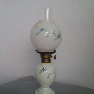 Vintage Milk glass Miniature Oil Lamp