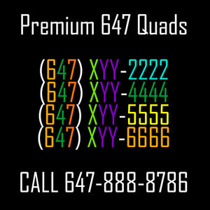 VIP Vanity Toronto Phone Numbers! Lots of Quads to Choose From!