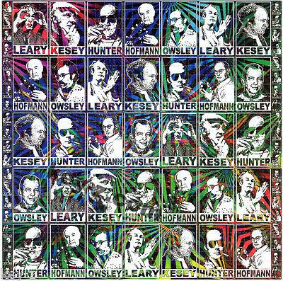 PSYCHEDELIC PIONEERS BLOTTER ART perforated LSD Acid Art paper sheet tabs