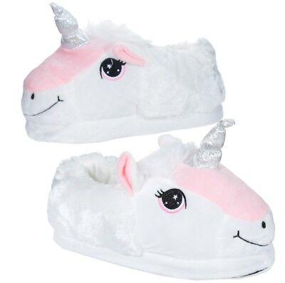 ausschuhe Mädchen Damen Schuhe Schläppchen Slipper Unicorn (Flauschige Mädchen)