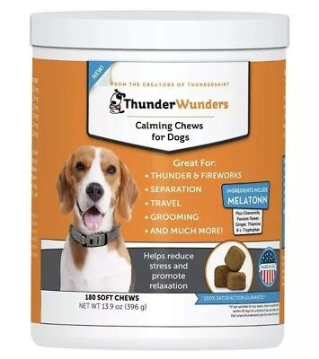 ThunderWunders Dog Calming Chews - Anxiety Supplement 180 Soft Chews