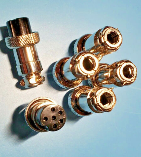 Qty of 6, Six Pin Microphone Plugs. Ship First Class with Tracking from NC, USA!