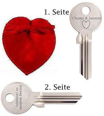 Schlüssel zu meinem Herzen mit GRAVUR Valentinstag Geburtstag Jahrestag Geschenk