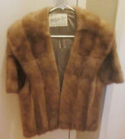 Mink Fur Cape Shawl Real Natural Furs - Make a reasonable offer!