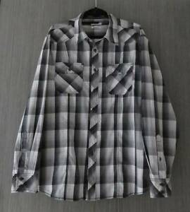 MENS SIZE XLARGE 107 REGULAR FIT BLACK GREY & WHITE SHIRT Barnsley Lake Macquarie Area Preview
