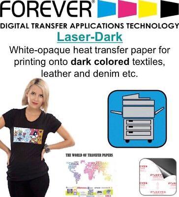 Forever Laser-dark Economy Heat Transfer Paper Laser Dark Fabrics 8.5x11 20 Sh