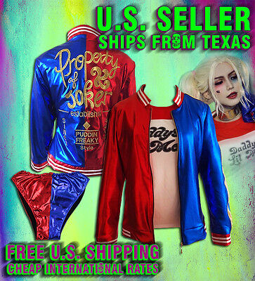 Harley Quinn Themed Costume Jacket Wig Halloween Daddys little Monster Cosplay ](Harley Quinn Halloween Costume)