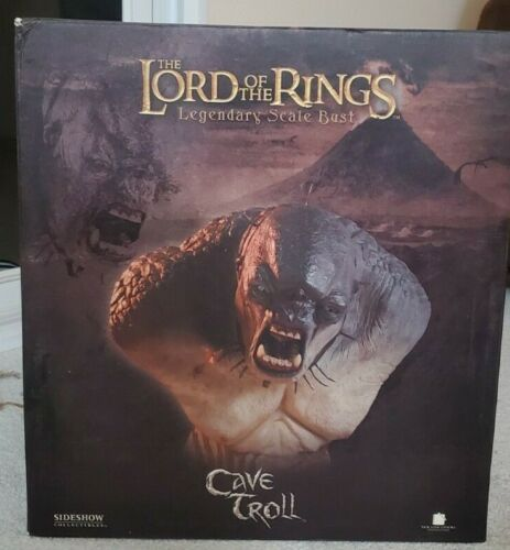 LOTR Sideshow Legendary Scale Bust CAVE TROLL Lord of the Rings #12/750