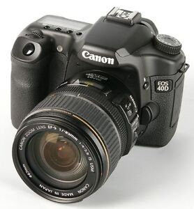 Canon EOS 40D DSLR package with 18-55 & 70-210 Lenses & more