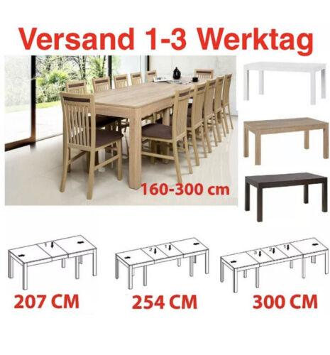 Tisch Küchentisch Esszimmertisch Esstisch WENUS ausziehbar 300cm Eiche Sonoma