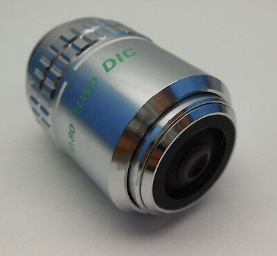 Nikon Lcd Plan 100x0.80 Elwd Dic Microscope Objective With 7 Day Warranty