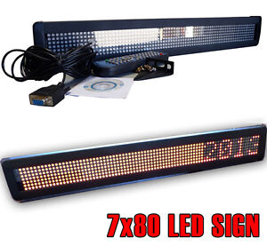New! One Line Indoor TRI-COLOR RG Type LED Programmable Scrolling Display Sign