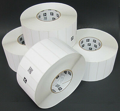 4 X Zebra Z-select 4000t 3.5 X 1 Removable Thermal Transfer Labels 5219 Roll