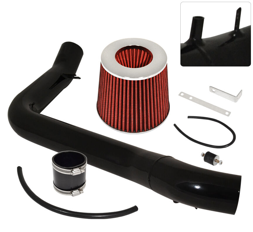 RED COLD AIR INDUCTION INTAKE KIT+DRY FILTER FOR HONDA 06-11 CIVIC Si 2dr 4dr