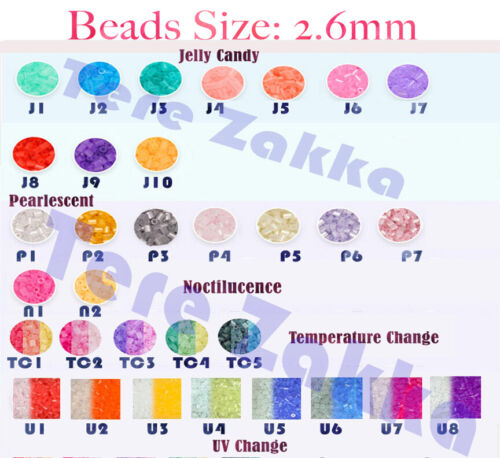 2.6mm 1000pcs Mini Fuse BEADS for PERLER Kids Gift High Quality Fuse Beads 100+