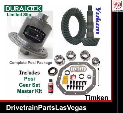 Dodge RAM 9.25 12 Bolt Limited Slip Posi Yukon Gear Set Timken Master Kit 3.55