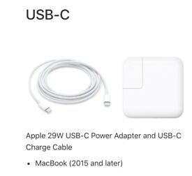 "Macbook 13"" 29W USB-C Charger Brand New"