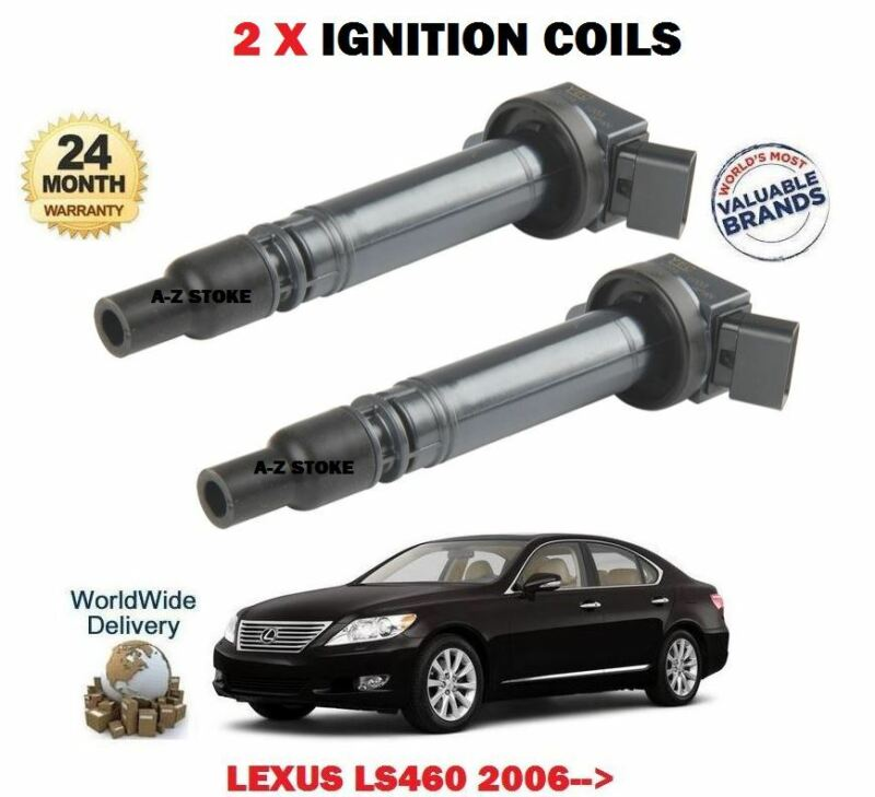 FOR LEXUS LS460 1UR-FSE 32v 2006-> NEW 2 X IGNITION SPARK PLUG COILS 90919-02256