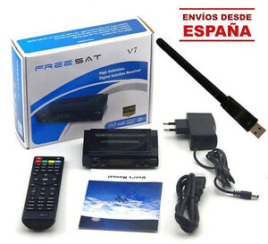 Receptar-Satelite-Freesat-V7-HD-USB-WiFi-Soporta-CCAM-HDMI-Full-HD-1080P