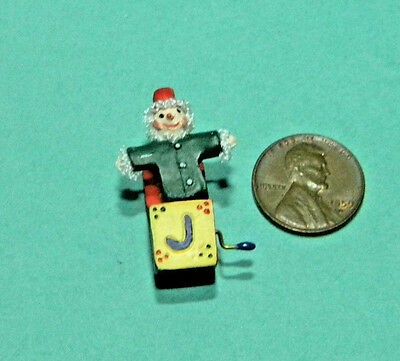 Miniature Jack in the Box in 1:12 doll scale