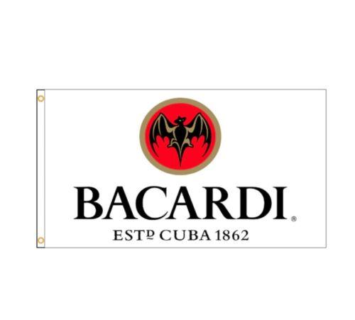 New 90x150cm Bacardi Rum Flag Spirits Alcohol Wine Garage Man Cave Gift Birthday