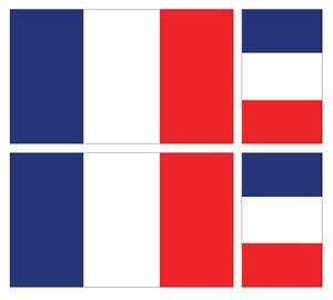 4 X FRENCH FLAG VINYL CAR VAN IPAD LAPTOP STICKER FRANCE