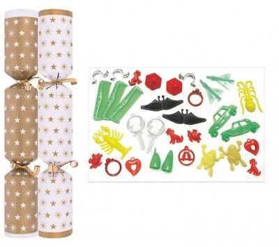 Christmas Crackers Gold Star - Box of 100 Bulk Pack Catering christmas crackers