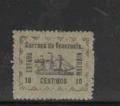"VENEZUELA-GUAY #2 1903 10c REVOLUTIONARY STEAMSHIP ""BANRIGH"" MINT VF NH O.G"