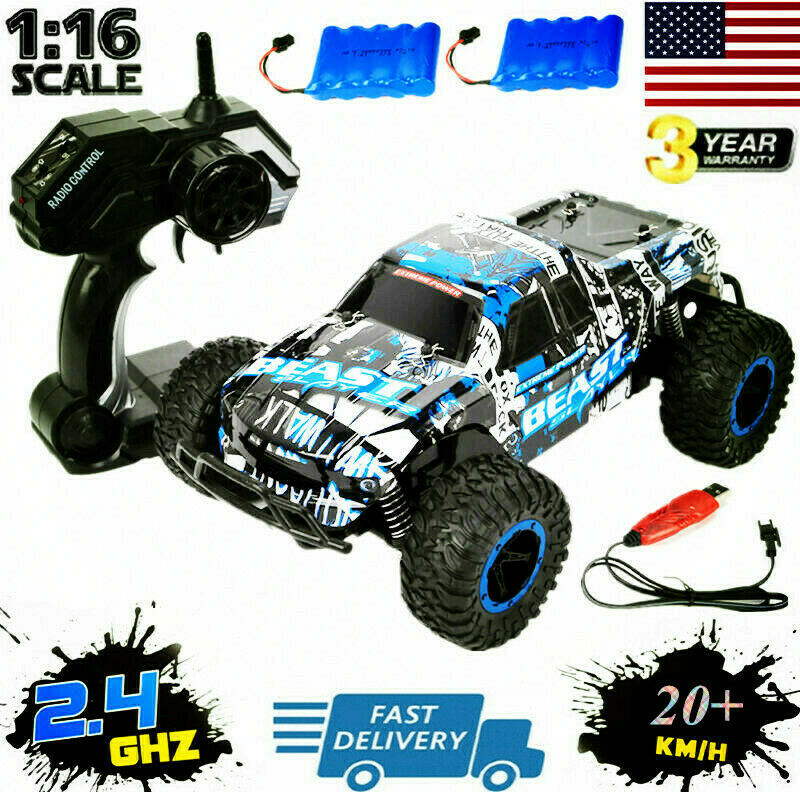 2.4G RC Car 1:16 Scale High Speed Remote Control Car Off Roa