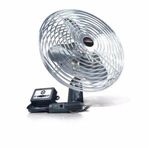 Schumacher 125 12V Table Chrome Fan