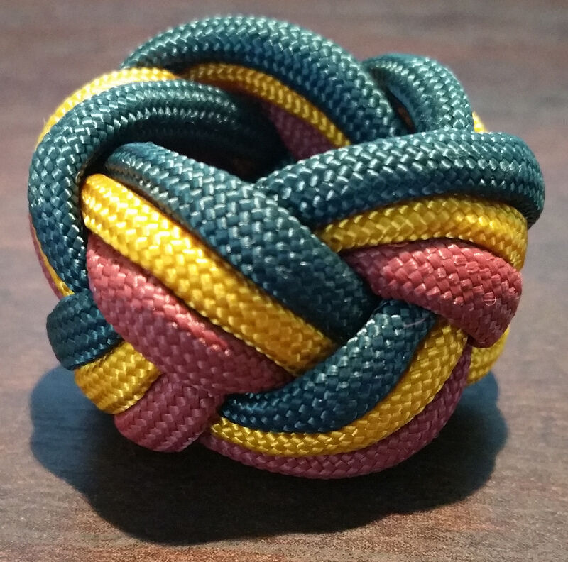 Paracord Neckerchief Woggle Slide - WEBELOS COLORS