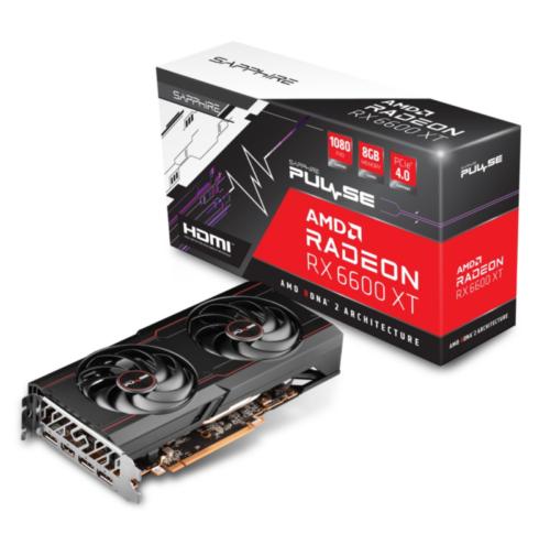 SAPPHIRE AMD Radeon RX 6600 XT OC Pulse Gaming Grafikkarte mit 8GB GDDR6