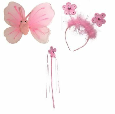 Blume Prinzessin Fairy Zauberstab Flügel Bopper Satz Glitter Kostüm - Prinzessin Glitter Kostüm