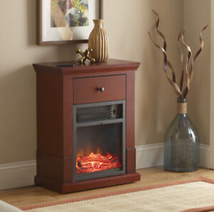 McLeland Design Easton Compact Electric Fireplace Heater