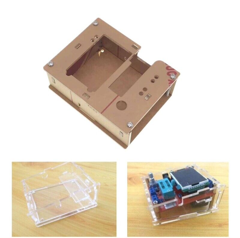 Acrylic Case Shell fr GM328 Transistor Tester TFT Diode LCR ESR Meter PWM Square