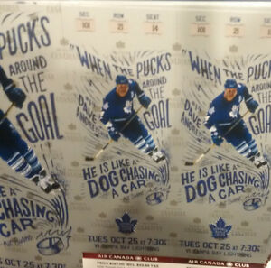 Toronto Maple Leafs vs Tampa Bay Lightening - GOLD AISLE SEATS