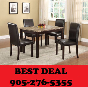 5pcs Faux Marble Dining Set Lowest Prices Guaranteed Only $288.0