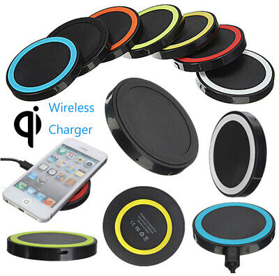 NEW Qi Wireless Fast Charger Dock Round Charging Pad For iPhone 8 8Plus X XS XR