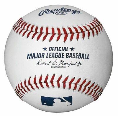 12 RAWLINGS OFFICIAL MAJOR LEAGUE BASEBALLS 1 DOZEN MLB-ROMLB MANFRED