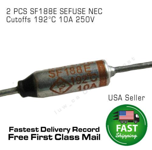 2 PCS SF188E SEFUSE Cutoffs NEC 192°C Thermal Fuse 10A 250V