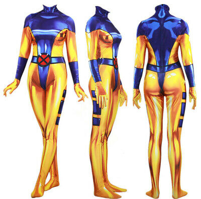 Jean Gray Halloween Costume (X-Men Jean Grey Costume Phoenix Cosplay Bodysuit Zentai Jumpsuit Halloween)