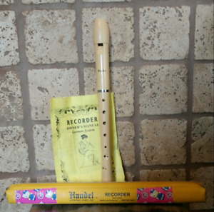 HANDEL Soprano ASRG-350 Recorder/Flute with Case/Instructions