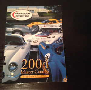 2004 CORVETTE MASTER CATALOG & 4 MAGAZINES