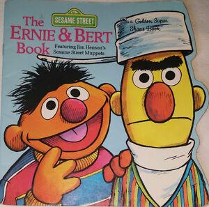 Qty 6 Sesame Street Toy Figures & Book (Bert, Ernie, Elmo, Oscar